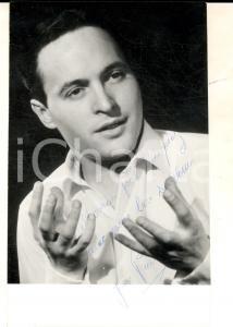 1960 PARIS Ritratto cantante Jean-Pierre DERIVES Foto seriale con AUTOGRAFO 9x14
