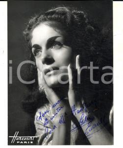 1960 ca PARIS Ritratto cantante Lydie ENAULT *Foto seriale con AUTOGRAFO 11x14