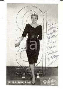 1960 ca Ritratto della cantante NINA GEORGE *Foto seriale con AUTOGRAFO 10x14