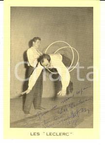 1960 ca FRANCE CIRCUS Ritratto del duo LES LECLERC *Foto seriale con AUTOGRAFO