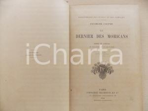 1908 Fenimore COOPER Le dernier des Mohicans *Paris Librairie HACHETTE