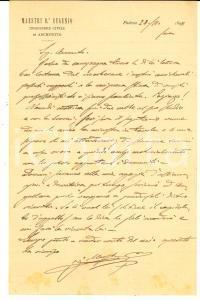 1898 PADOVA Ing. Eugenio MAESTRI a un collega poco amichevole *AUTOGRAFO