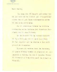 1932 PADOVA On. Giovanni MILANI discute la data di una commemorazione *AUTOGRAFO