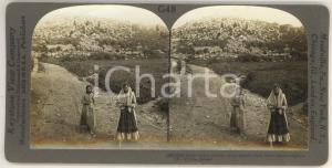 1920 ca TYRINS (GREECE) Palace wall of princes *Stereoview KEYSTONE ANIMATED