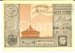 1947 STORIA POSTALE FIERA DI MILANO X Mostra Filatelica - Cartolina con annullo