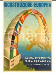 1948 STORIA POSTALE FIERA DI PADOVA Mostra Informativa - Cartolina con annullo