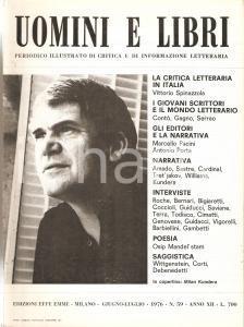 1976 UOMINI E LIBRI n.59 Vittorio SPINAZZOLA critica militante In Italia Rivista