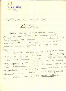 1958 NAPOLI IL MATTINO Direttore Giovanni ANSALDO e i vizi culinari *Autografo