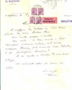 1959 NAPOLI IL MATTINO Giovanni ANSALDO cerca notizie su una vicenda di cronaca