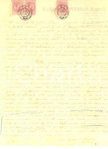 1916 PADOVA Antonio PENELLO e il monumento dei conti SAN BONIFACIO *Autografo