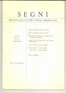 1985 SEGNI Rocco MONTANO L'ultimo Montale *Rivista italo-americana anno VI n°1-2