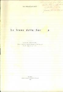 1934 Sebastiano CRINO' Le frane della Sardegna *Invio AUTOGRAFO DANNEGGIATO