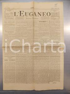 1890 PADOVA - L'EUGANEO Trentino nuovo Stato Pontificio PESCE D'APRILE *Giornale