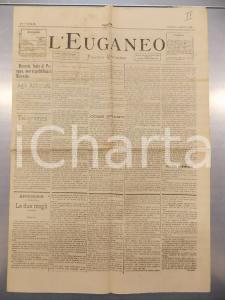 1890 PADOVA - L'EUGANEO Concerto con fonografo al teatro VERDI *Anno IX n.95
