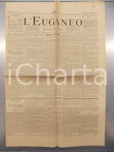 1890 PADOVA - L'EUGANEO Bambini di Riviera San Luca lanciano sassi a reporter