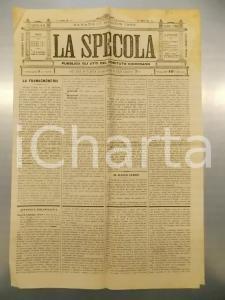 1893 PADOVA - LA SPECOLA Atti del comitato diocesano *Settimanale anno IX n.20
