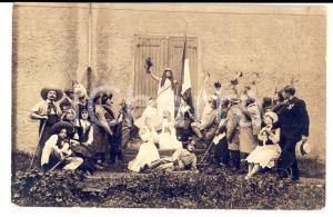 1915 ca FRANCE THEATRE Hommage à la Nation *Photo carte postale RARE CURIEUSE