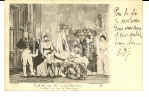 1901 THEATRE L'AIGLON Sarah BERNHARDT  - Mort duc de Reichstadt *Carte postale