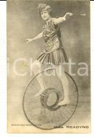 1910 ca FRANCE CIRCUS Miss READYNG on her monocycle *VINTAGE postcard RARE
