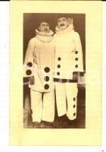 1920 ca FRANCE CIRCO Coppia di clown nei panni di PIERROT *Foto seriale 14x9