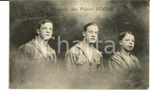 1910 ca FRANCE Spectacles de BOXE - Souvenir des frères ROOSE *Carte postale