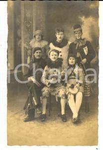 1920 ca FRANCE CIRCO Pagliacci pronti per la recita *Foto cartolina VINTAGE