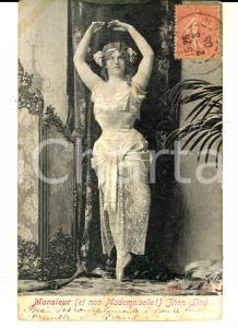 1905 FRANCE CIRCUS Monsieur (et non Mademoiselle) John LIND *Homme TRAVESTI