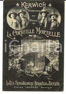 1910 ca FRANCE CIRCUS Corbeille mortelle - Acrobates 4 KERWICH Bicyclette