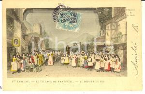 1908 PARIS Théâtre de la GAIETE' - Le village de KAATSKILL *Carte postale
