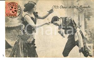 1904 FRANCE THEATRE BELLE EPOQUE M.lle OTERO et Mr FRANCK *Carte postale VINTAGE