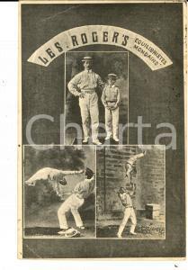 1908 FRANCE CIRCUS Les ROGER'S Equilibristes mondains *Carte postale RARE FP VG
