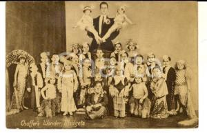 1920 ca USA CIRCUS CHAFFER'S Wonder Midgets *Vintage postcard RARE FP NV
