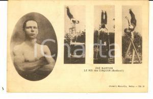 1910 ca FRANCE Zoé BASTIEN Le roi des CIRQUES (Kosbooll) *Carte postale RARE