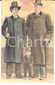 1910 ca FRANCE CIRQUE Les frères HUGO - GIGANTISME *Carte postale RARE FP NV
