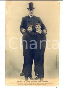 1910 ca FRANCE CIRQUE HUGO, le plus grand des géants *Carte postale GIGANTISME