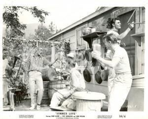 1957 SUMMER LOVE John SAXON singing a song - Movie by Charles F. HAAS *Photo