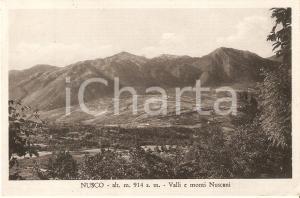 1957 NUSCO (AV) Panorama con valli e monti nuscani *Cartolina FP VG