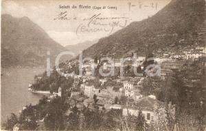 1921 BLEVIO (CO) Panorama del paese con Lago di COMO *Cartolina FP VG