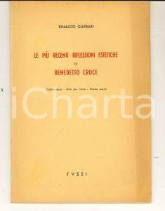 1951 Rinaldo GARBARI Le più recenti riflessioni estetiche di Benedetto Croce