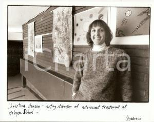 1980 ca USA - HALCYON SCHOOL Christina HENSON acting director *Photo 25x20 cm