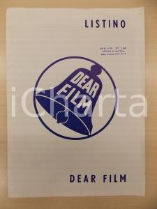 1956 DEAR FILM Agenzia di ANCONA Listino produzioni 1951 - 1956 *24x35 cm