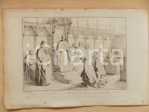 1867 G. GATTERI Francesco Novello II da Carrara e suo figlio dal Doge *Stampa