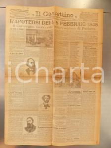 1915 PADOVA Il GAZZETTINO Apoteosi 8 febbraio - Convegno interventista *Giornale