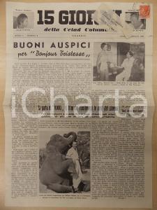 1958 15 GIORNI DELLA CEIAD COLUMBIA Bonjour tristesse *Periodico anno II n.8