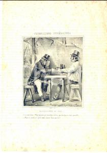 1839 PARIS Le Musée pour rire - Consolations funéraires - Encore un coup GRAVURE