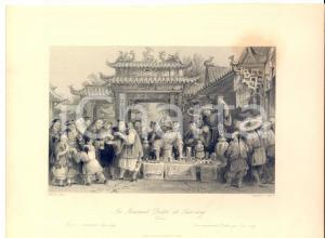 1843 CHINA In a series of views - An itinerant doctor at TIEN-SING *Stampa