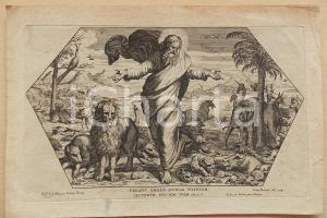 1675 Cesare FANTETTI Creazione degli animali *Stampa da affresco Raffaello
