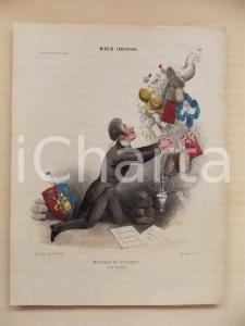 1840 PARIS MIROIR CARICATURAL Monsieur de Tousvents *Plate 48 LA MODE 26x34 cm