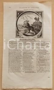 1726 Jacob CATS Culex fodit oculum leonis - Wer mit katzen jagt  *Stampa 40x23