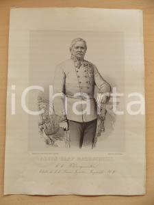 1860 WIEN Alois Graf MAZZUCHELLI Feldzeugmeister *Lit. STOUFS Portrait KATZLER
